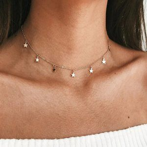 Star Choker Necklace (Gold)